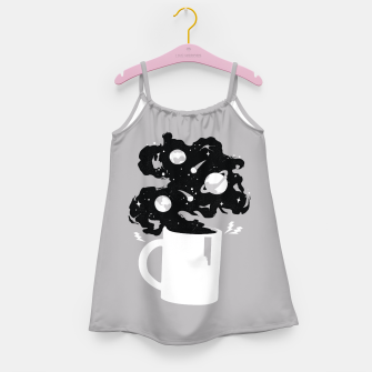 Galaxy Coffee Girl's Dress obraz miniatury