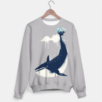 Blue Whale and Surfer Sweater obraz miniatury
