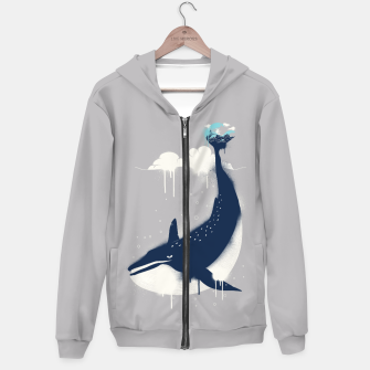 Blue Whale and Surfer Hoodie obraz miniatury