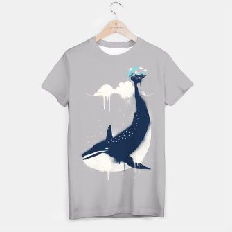Blue Whale and Surfer T-shirt obraz miniatury