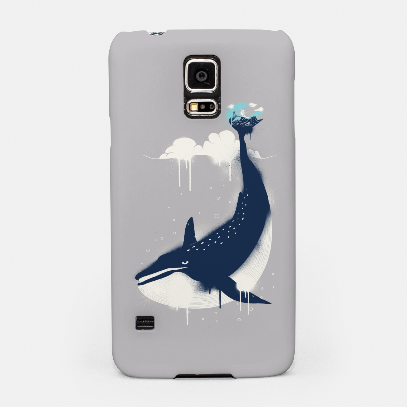 Zdjęcie Blue Whale and Surfer Samsung Case - Live Heroes