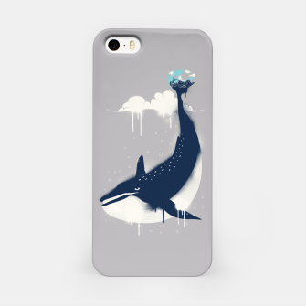 Blue Whale and Surfer iPhone Case obraz miniatury