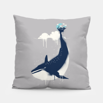 Miniaturka Blue Whale and Surfer Pillow, Live Heroes