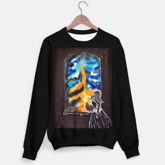 "Miniaturka ""An astonishing night"" #nature #inspiration #buyart Sweater regular, Live Heroes"