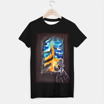 "Miniaturka ""An astonishing night"" #nature #inspiration #buyart T-shirt regular, Live Heroes"