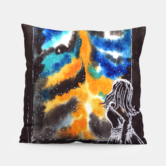 "Miniaturka ""An astonishing night"" #nature #inspiration #buyart Pillow, Live Heroes"
