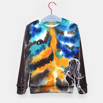 "Miniaturka ""An astonishing night"" #nature #inspiration #buyart Kid's Sweater, Live Heroes"