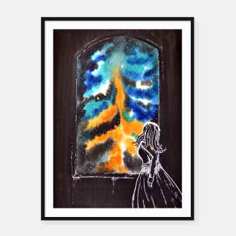 "Miniaturka ""An astonishing night"" #nature #inspiration #buyart Framed poster, Live Heroes"