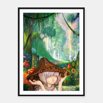 Miniaturka Fairy in the woods Framed poster, Live Heroes