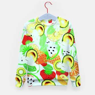 Thumbnail image of retro fruit Kid's Sweater, Live Heroes