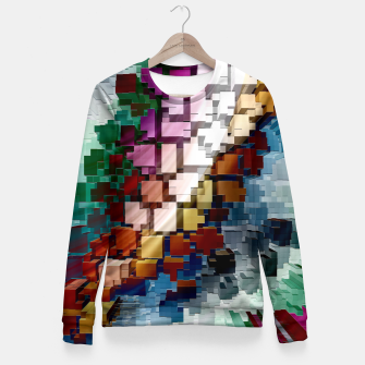 Thumbnail image of Cube Centric Fitted Waist Sweater, Live Heroes