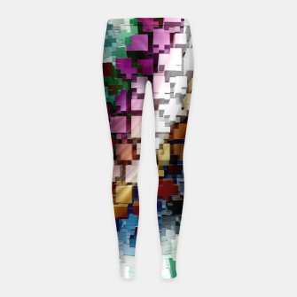 Thumbnail image of Cube Centric Girl's Leggings, Live Heroes