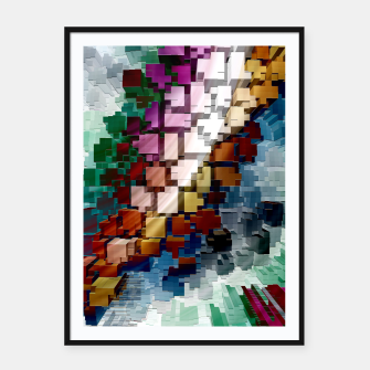 Thumbnail image of Cube Centric Framed poster, Live Heroes