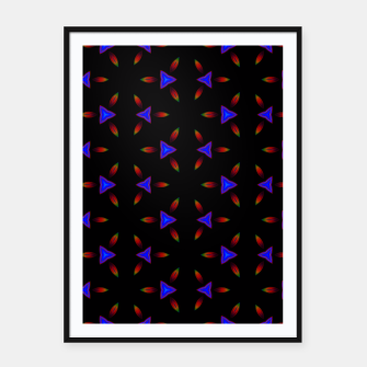 Thumbnail image of Pattern on Black Framed poster, Live Heroes