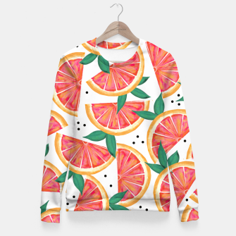Thumbnail image of Citrus Surprise Fitted Waist Sweater, Live Heroes