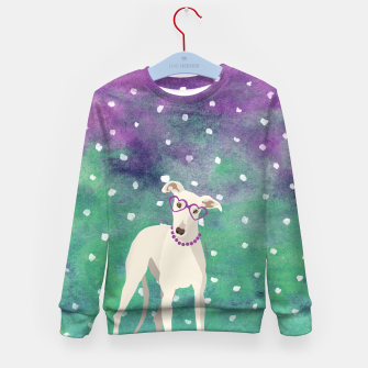 Thumbnail image of Sighthound Watercolour Kid's Sweater, Live Heroes