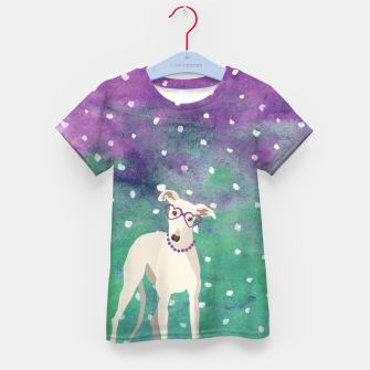 Thumbnail image of Sighthound Watercolour Kid's T-shirt, Live Heroes