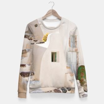 Thumbnail image of Home in Santorini Fitted Waist Sweater, Live Heroes