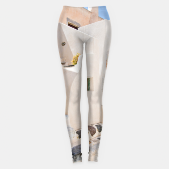 Thumbnail image of Home in Santorini Leggings, Live Heroes
