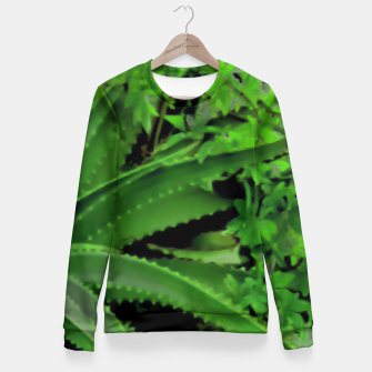 Thumbnail image of Vivid Tropical Design Fitted Waist Sweater, Live Heroes
