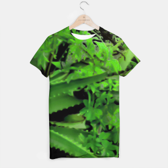 Thumbnail image of Vivid Tropical Design T-shirt, Live Heroes