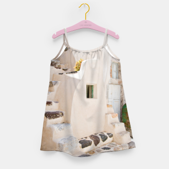 Thumbnail image of Home in Santorini Girl's Dress, Live Heroes