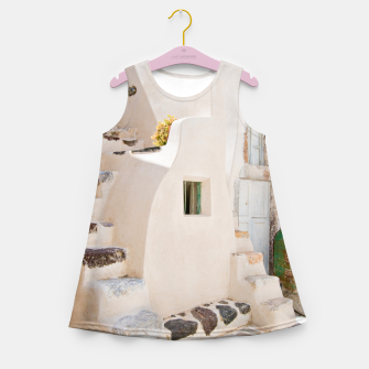 Thumbnail image of Home in Santorini Girl's Summer Dress, Live Heroes