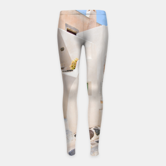 Thumbnail image of Home in Santorini Girl's Leggings, Live Heroes