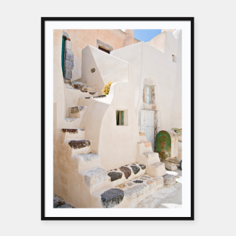 Thumbnail image of Home in Santorini Framed poster, Live Heroes