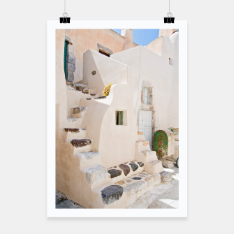 Thumbnail image of Home in Santorini Poster, Live Heroes