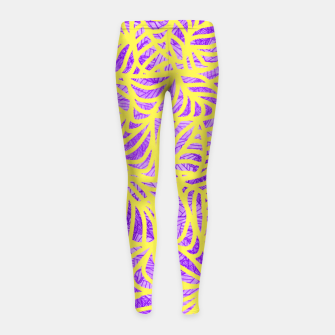 Thumbnail image of be purple! Girl's Leggings, Live Heroes