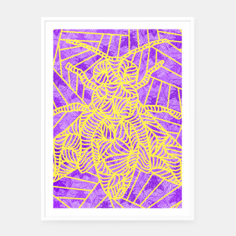 Thumbnail image of be purple! Framed poster, Live Heroes