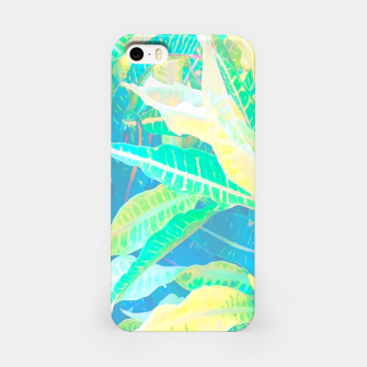 Thumbnail image of tropical croton leaves 3 iPhone Case, Live Heroes