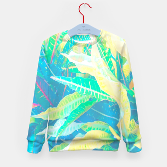 Thumbnail image of tropical croton leaves 3 Kid's Sweater, Live Heroes