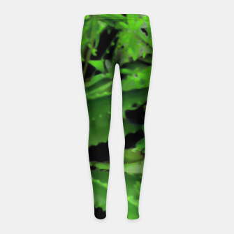 Thumbnail image of Vivid Tropical Design Girl's Leggings, Live Heroes
