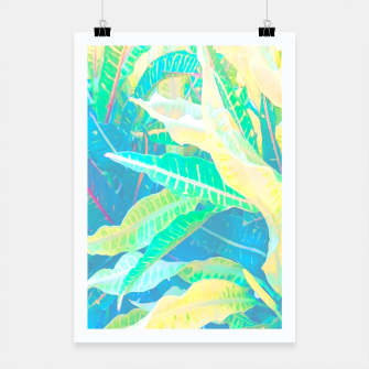 Thumbnail image of tropical croton leaves 3 Poster, Live Heroes
