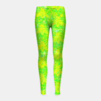 Thumbnail image of be green! Girl's Leggings, Live Heroes