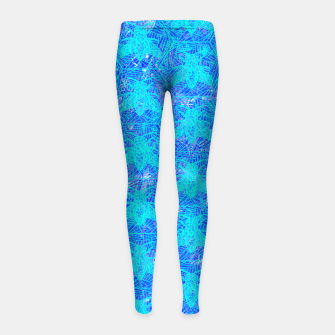 Thumbnail image of bee blue! Girl's Leggings, Live Heroes