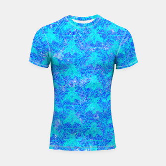 Thumbnail image of bee blue! Shortsleeve Rashguard, Live Heroes