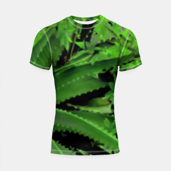 Thumbnail image of Vivid Tropical Design Shortsleeve Rashguard, Live Heroes