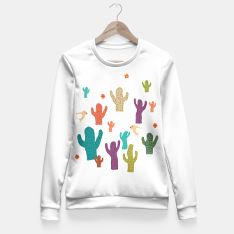 Miniature de image de cactus friends Fitted Waist Sweater, Live Heroes