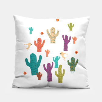 Miniature de image de cactus friends Pillow, Live Heroes