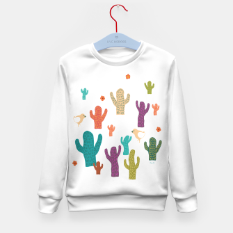 Miniature de image de cactus friends Kid's Sweater, Live Heroes