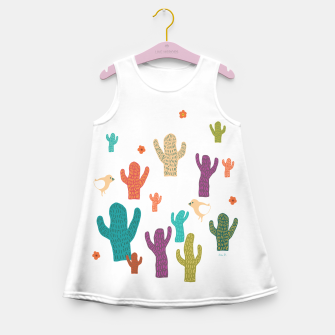 Miniature de image de cactus friends Girl's Summer Dress, Live Heroes