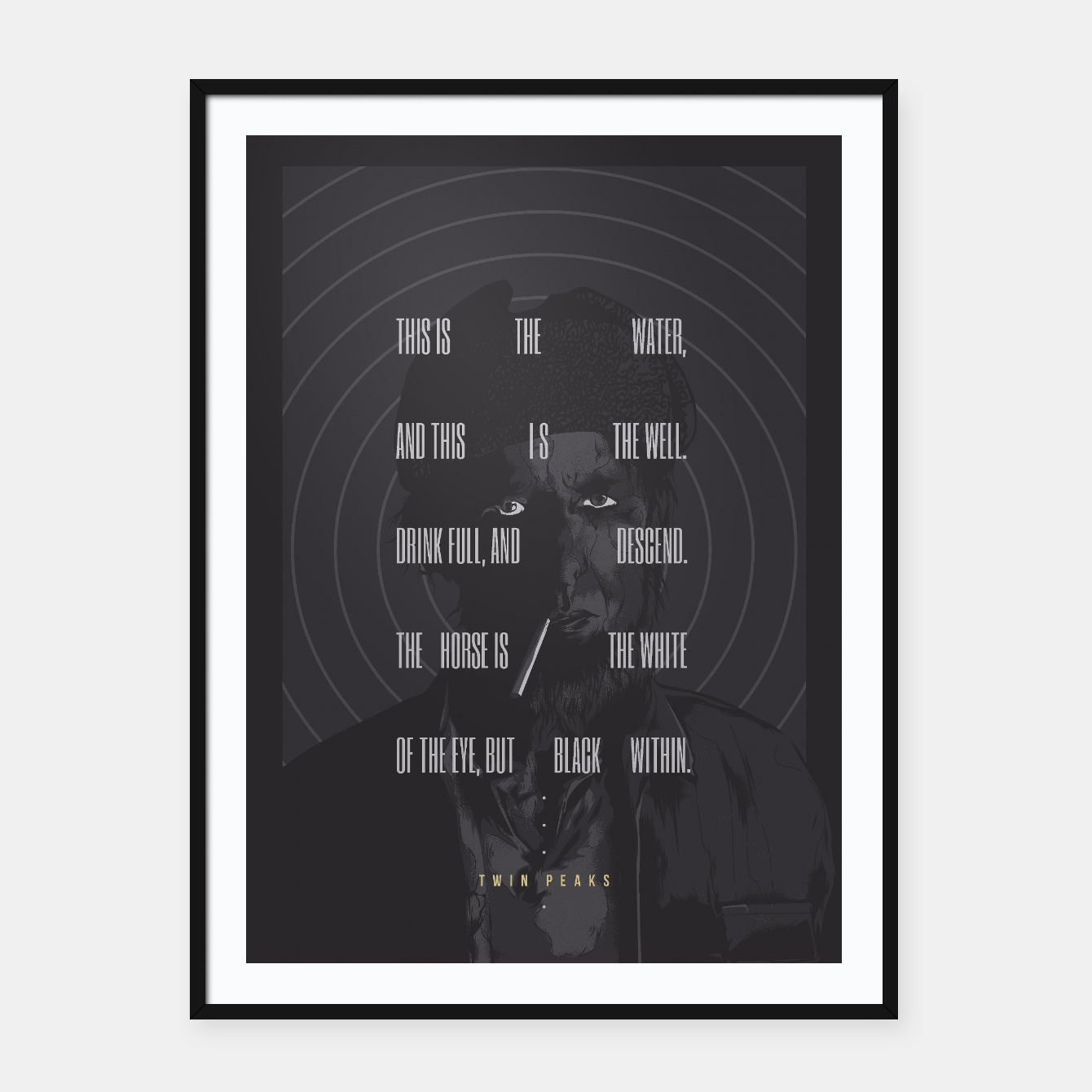 Image of Twin Peaks Framed poster - Live Heroes