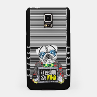 Miniatur Pug quotes Freedom Samsung Case, Live Heroes