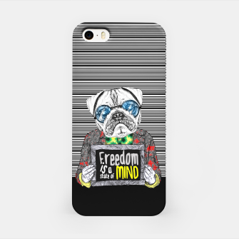 Miniatur Pug quotes Freedom iPhone Case, Live Heroes