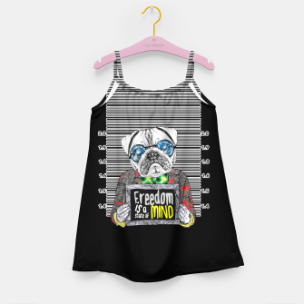 Miniatur Pug quotes Freedom Girl's Dress, Live Heroes