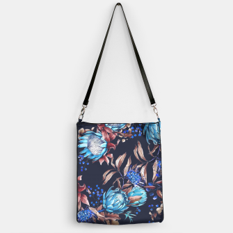 Thumbnail image of King protea flowers watercolor illustration Handbag, Live Heroes