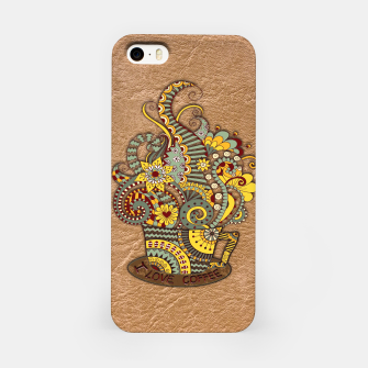 Thumbnail image of I love coffee Doodle Art iPhone Case, Live Heroes